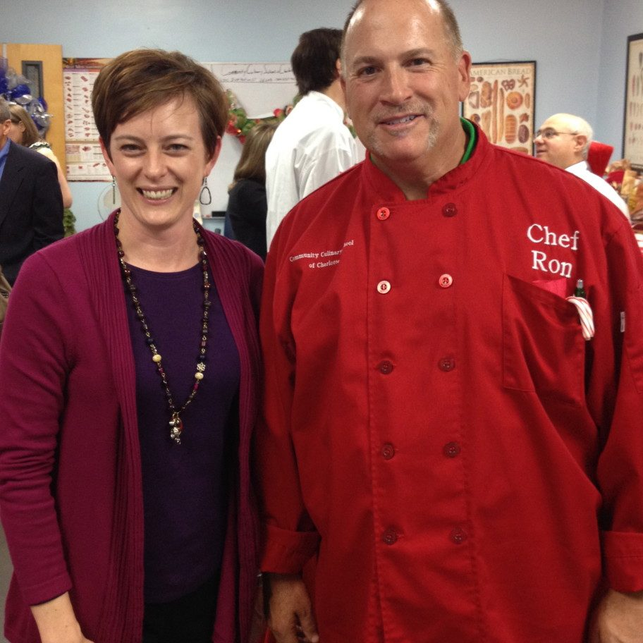 Kristi, Owner of FEAST, with Chef Ron, Executive Director, Community Culinary School